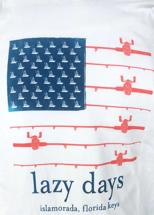 Lazy Days patriotic-fishing-tee