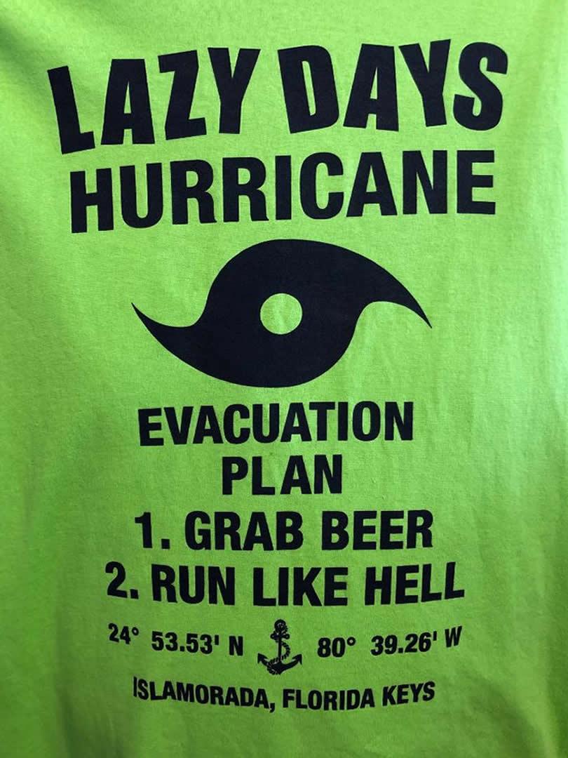Hurricane Evacuation Plan Tee