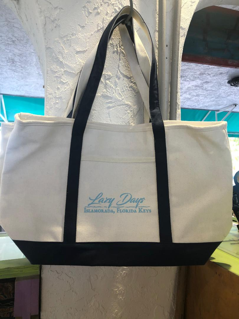 Lazy Days Canvas Tote Bag